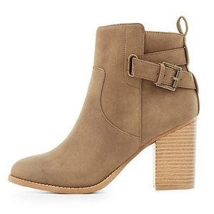 Charlotte Russe Khaki Booties